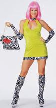 70s Lime Velvet Dress Costumes - $59.00