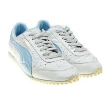 Puma Morpheaus White Blue Womens Vintage Sneakers Size 8 - $29.65