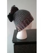 Gray Mix Messy Bun Handmade Crochet Hat/Pony Tail Hat - $18.00