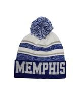 Memphis Men's Blended Stripe Winter Knit Pom Beanie Hat (Blue/White) - $12.95