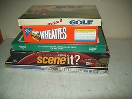board game LOT 5 SPORTS themed games all excellent & complete GREAT PRICE - $9.90