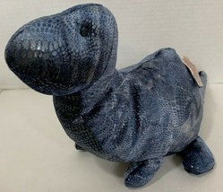 "Russ Plato the Dinosaur Plush blue gray Stuffed Animal W/Tag 13-14"" Bron... - $12.86"