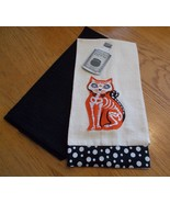 Cat Skeleton Halloween Set of 2 NWT Kitchen Dish Towels by Witches Brew - $14.00