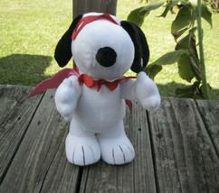 Snoopy Kissing VALENTINE Bandit Animated Music Motion Doll Peanuts Hallmark - $23.75