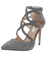 INC Womens Kaffe Silver Embellished Evening Heels Shoes 6 Medium new in box - $37.24