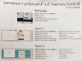 "S.E.I. Scrapbook in a Bag, Winter Wonderland 4"" x 6"" Memory Book Kit image 5"