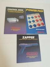 Lot Bundle of Nintendo Entertainment System Zapper Power Pad Manuals Books 1988 - $34.29