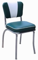 Dining Chair Seating Retro Chrome Green Kitchen Living Room Metal 2''Sea... - €204,39 EUR