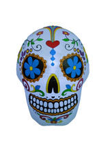 Halloween Inflatable Lighted Skull Indoor Outdoor Yard Decoration Party ... - $53.00