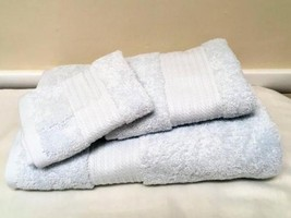 Ralph Lauren Greenwich 3 pc Towel Set POWDER BLUE Bath Hand Towel Washcloth - $39.39