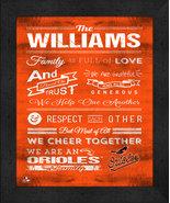 "Baltimore Orioles ""Family Cheer"" 13 x 16 Framed Print - $39.95"