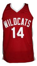 Troy Bolton High School Musical Zac Efron Basketball Jersey New Red Any Size image 1