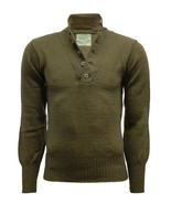 BRAND NEW GENUINE ORIGINAL USA MILITARY 100% WOOL 5-BUTTONS SWEATER PULL... - $24.94