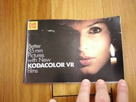 Vintage 1983 KODAK Kodacolor VR 35mm Color Film Advert Booklet Guide Pam... - $15.19