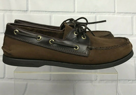 Sperry A/O Authentic Original Mens Brown Buck Leather Slip On Boat Shoes... - $34.99