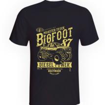 Big Foot Monster Truck Diesel Power Dirt Wheels Black Tshirt Mens Womens... - $16.74