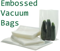 Pack of 10 Embossed Food Vacuum Sealer Bags Packaging Pouch 250 x 350 mm - £6.55 GBP