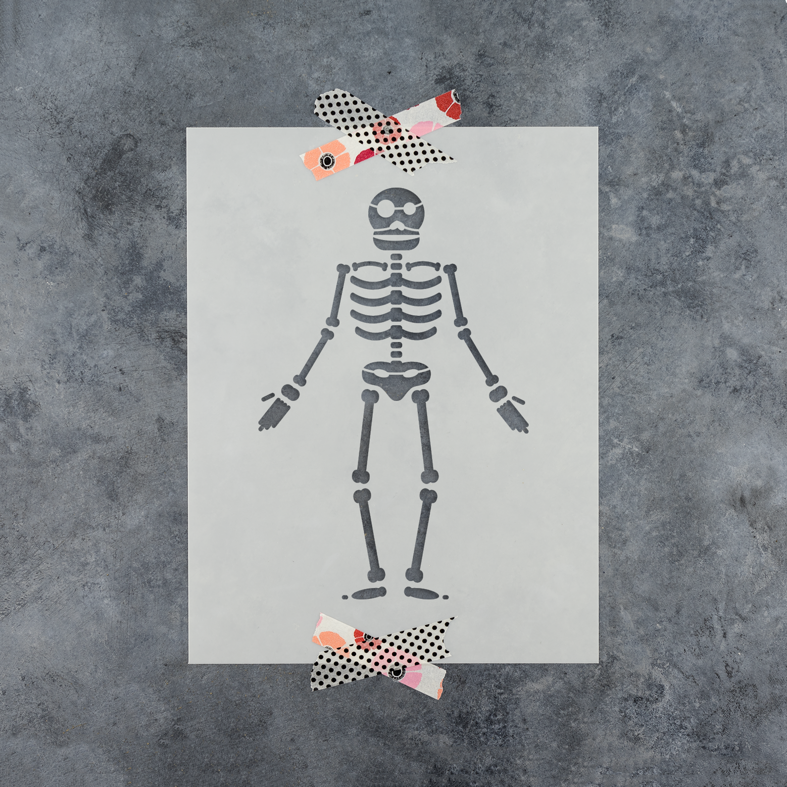Skeleton Stencil - Reusable Stencils of a Skeleton in Multiple Sizes