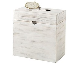Lillian Rose White Rustic Country Wooden Wedding Card Box - $47.30