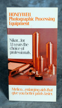 Honeywell Photographic Processing Equipment Catalog / Booklet - $4.00