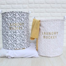 FULLLOVE® 40*50cm Leaves Printed Laundry Basket for Toys/ Clothes - $26.34