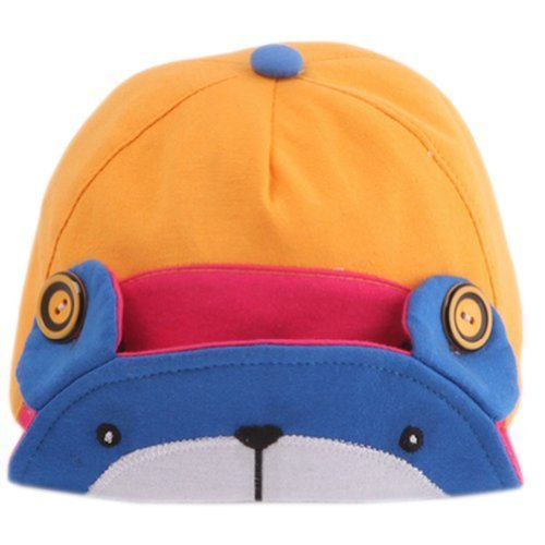 Cute Bear Infant Sun Protection Hat Baby Beaked Cap Toddler Floppy Cap Blue
