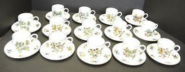 14 Royal Worcester Fruit Berries Demitasse Cups & Saucers #Z2623 Pattern - $213.74