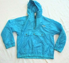Izod Lacoste Youth Jacket M 12-14 Pull Over Hooded Rain Hooded Hoodie Blue - $9.90