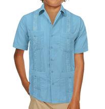 Boy's Guayabera Wedding Baptism Kids Toddler Junior Button-Up Casual Dress Shirt image 3
