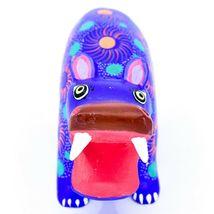 Handmade Oaxacan Copal Wood Carving Painted Folk Art Hippopotamus Hippo Figure image 5