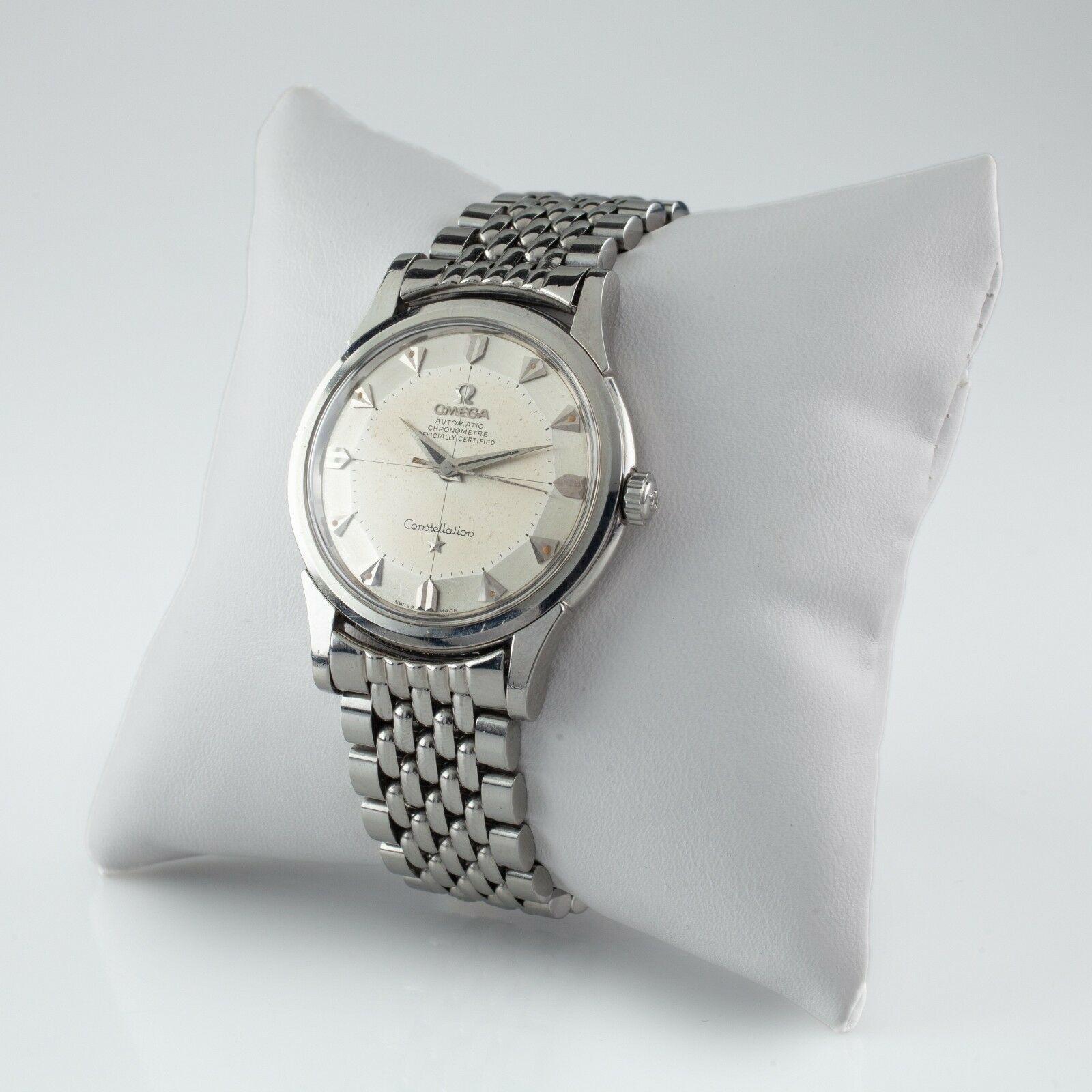 Omega Vintage Constellation Pie Pan Stainless Steel Watch #551 #14381