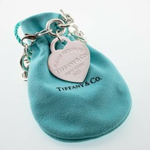 """Tiffany & Co. Plata de Ley """"Retorno a """"Corazón Etiqueta Pulsera Grande Talla W/ image 2"""