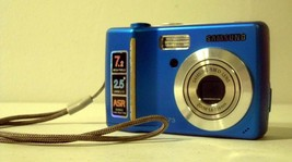 SAMSUNG S73 BLUE DIGITAL CAMERA (AS-IS) + Memory Card - $14.01