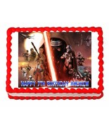 Star Wars The Force Awakens party edible cake image cake topper frosting... - $7.80