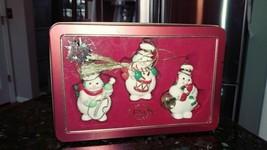 Lenox 2003 Snowman Christmas ornaments Set of 3 - $21.53