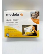 MEDELA - QUICK CLEAN MICRO STEAM BAGS - 5 BAGS/BOX #87024NA, NEW - $12.77