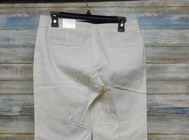 Express Editor Dress Pants 6 x 32 Women's White Straight Stretch          (D-85) image 8