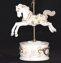 Horse Carousel Music Box (1980's) Works AA18 - 1089 Vintage image 2