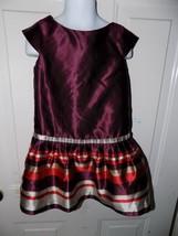 JANIE AND JACK Maroon Bouquet Dressy Dress Size 4 Girl's EUC - $23.40