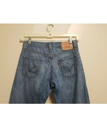 Levis 514 Men 30 x 30 Slim Straight Blue Jeans Light Wash Cotton Distressed - $24.00