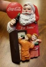 Rare Vintage 1996 Coca-Cola Rubber Fridge Magnet Santa Crate Christmas C... - $6.78