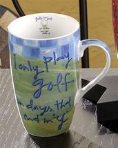 "Golf Themed Ceramic Mug Joyce Shelton ""Just a Job"" Collection 13oz"