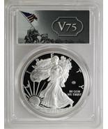 2020-W $1 Silver Eagle v75 Privy First Strike PCGS PR69DCAM Silver Coin - £285.66 GBP