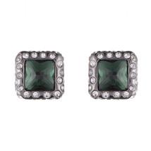 Alexis Bittar Geometric Crystal Encrusted Stud Earrings - $75.00