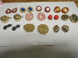 Costume Jewelry , Earrings , Lot of 11 Pair ,Carolee Duchess Royal Navy ... - $250.00
