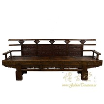 An item in the Antiques category: Antique Chinese Massive Carved Long Bench 19LP01