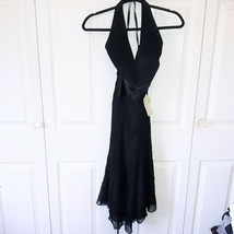 New With Tags Anne Klein Halter Dress 100% Silk Size 4 Black - $49.50
