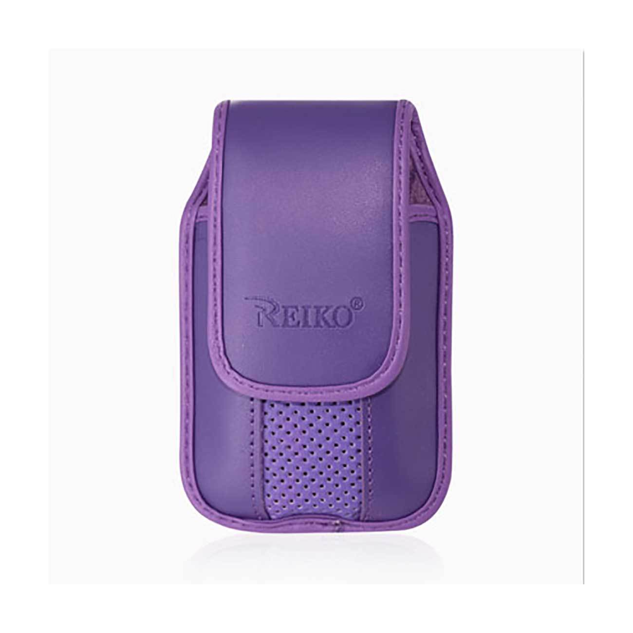 Primary image for Purple Leather Case Vertical with pinch clip fits LG B470