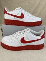 Nike Air Force 1 Youth White University Red CV7663-102 Size 4.5y / Women 6 - $118.75