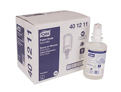 Tork 401211 Premium Extra Mild Foam Soap, Colorless, 1 Liter Bottle, for use wit